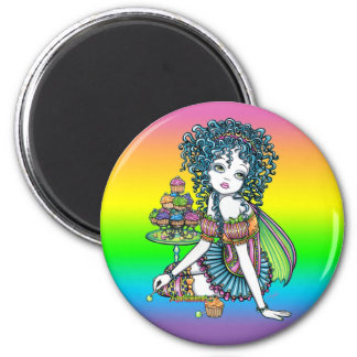 """Buttercup"" Cup Cake Couture Fairy Art Magnet"