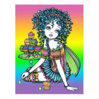 """Buttercup"" Cup Cake Couture Rainbow Fairy Art Postcard"