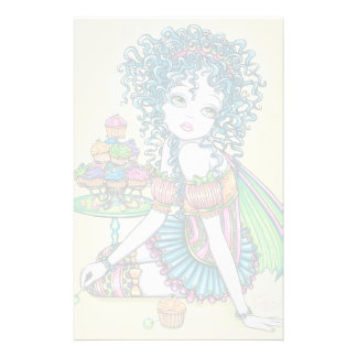 """Buttercup"" Cup Cake Fairy Art Stationery"