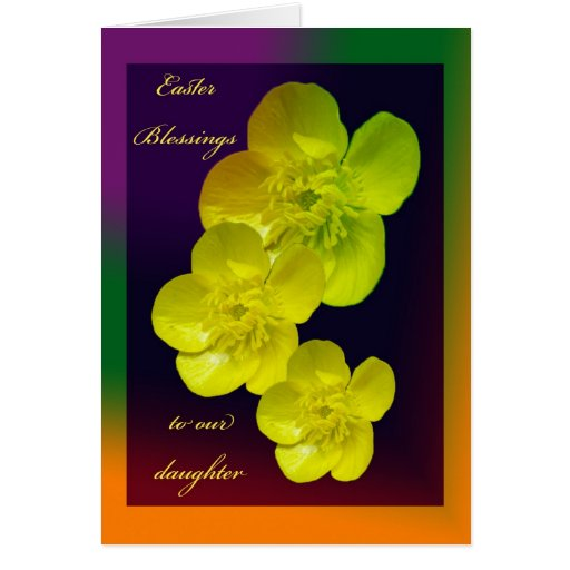 Buttercup Easter Blessings Daughter Card