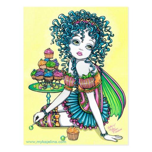 Buttercup Fairy Cup Cake Art Postcard Zazzle