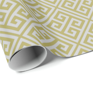 Buttercup Greek Key Wrapping Paper
