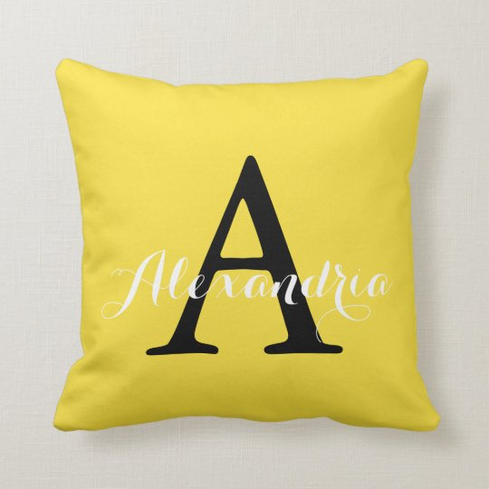 Buttercup Sunny Bright Yellow Solid Colour Throw Pillow