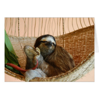 Buttercup the Sloth Greeting Card