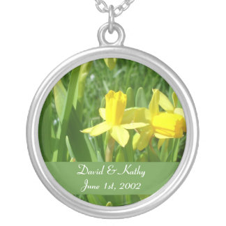 Buttercup Yellow Daffodils Flower Necklace