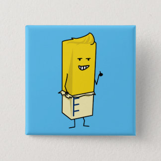 Buttered Buttery Stick of Butter Happy Thumbs Up 15 Cm Square Badge