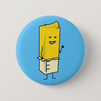 Buttered Buttery Stick of Butter Happy Thumbs Up 6 Cm Round Badge