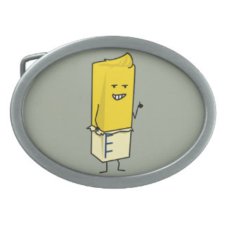 Buttered Buttery Stick of Butter Happy Thumbs Up Belt Buckles
