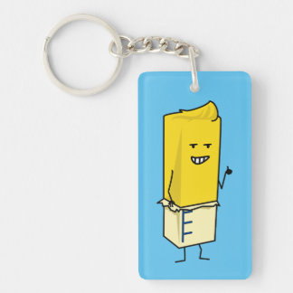 Buttered Buttery Stick of Butter Happy Thumbs Up Key Ring