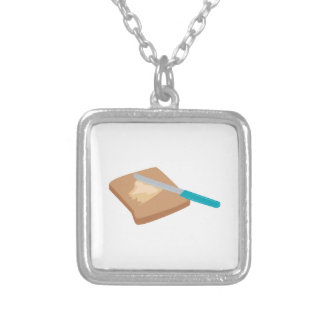 Buttered Toast Square Pendant Necklace
