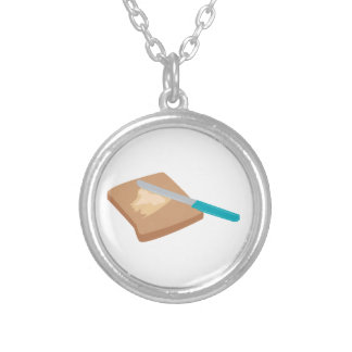 Buttered Toast Round Pendant Necklace