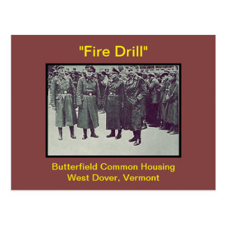 Butterfield Housing Fire Drill Humor: Postcards