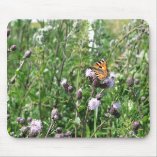 butterflie on flower mouse pads