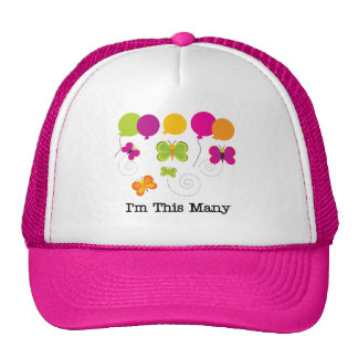 Butterflies 5th Birthday T-shirts and gifts Cap