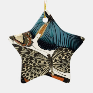 Butterflies Among Us Ceramic Star Decoration
