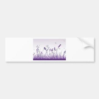 Butterflies amongst flowers bumper sticker