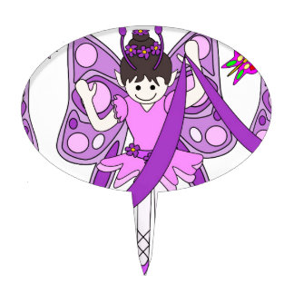 Butterflies and Ballerinas Cake Pick