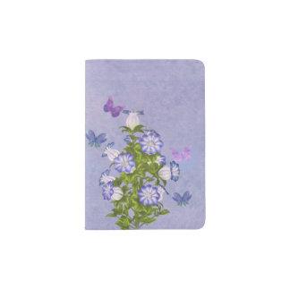 Butterflies and Bell Flowers Passport Holder