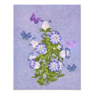 Butterflies and Bell Flowers Photo Art