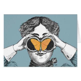 Butterflies and Binoculars Greeting Card