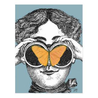 Butterflies and Binoculars Postcard