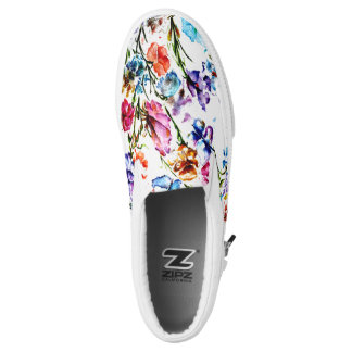 BUTTERFLIES AND BLOOMS PRINTED SHOES