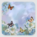 Butterflies and Blues Square Sticker