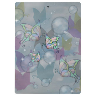 Butterflies and bubbles -- (Mushroom club) Clipboard