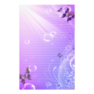 Butterflies and Bubbles Stationary Customised Stationery