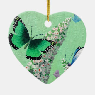 Butterflies and Buddleia Christmas Ornament