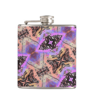 BUTTERFLIES AND BUGS ABSTRACT HIP FLASK