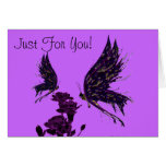 Butterflies and Carnations Card