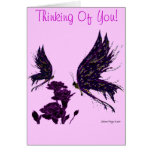 Butterflies and Carnations Greeting Cards