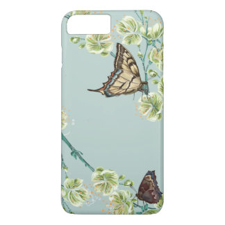 Butterflies and Cherry Blossoms iPhone 7 Plus Case