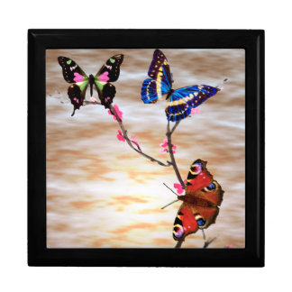 Butterflies and Cherry Blossoms Large Square Gift Box