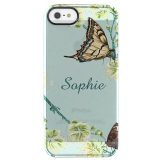 Butterflies and Cherry Blossoms Personalized iPhone 6 Plus Case