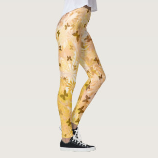 Butterflies and Daisies by Shirley Taylor Leggings