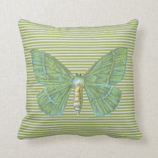 Butterflies and Daisy's Striped Reversible Cushion