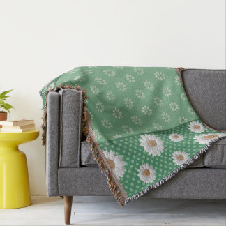 Butterflies and Daisy's Throw Blanket