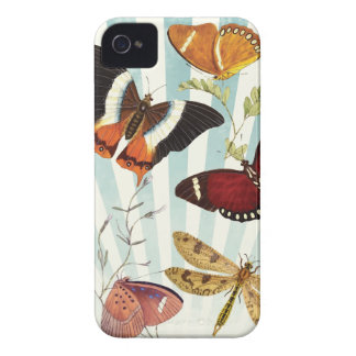 Butterflies And Dragonflies vintage Case-Mate iPhone 4 Case