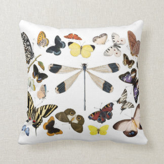 Butterflies and dragonfly pillow
