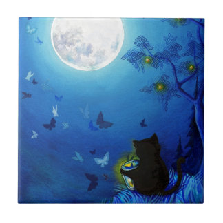 Butterflies and Fairy Lanterns Tile