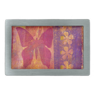 Butterflies and flowers belt buckle