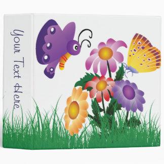 Butterflies and Flowers Binder