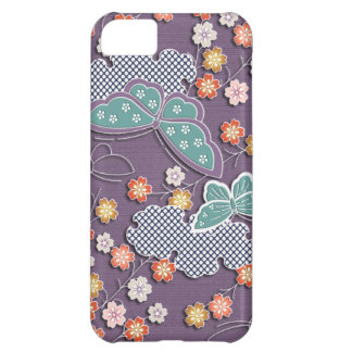 Butterflies and flowers iPhone 5C case
