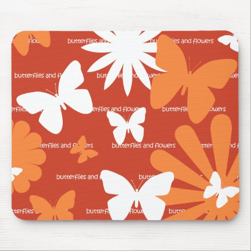 Butterflies and Flowers Mouse Pads