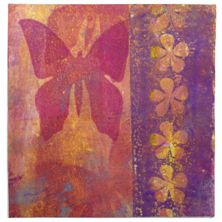 Butterflies and flowers napkin