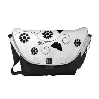 Butterflies And Hearts Messenger Bag