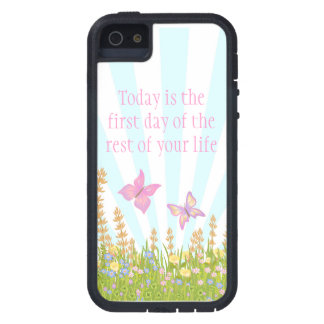 butterflies and meadow flowers with sentiment iPhone 5 covers