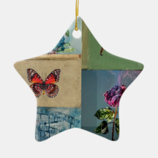 Butterflies and more ceramic star decoration